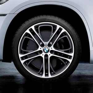 BMW Kompletträder M Doppelspeiche 310 bicolor (ferricgrey / glanzgedreht) 20 Zoll X3 F25 X4 F26