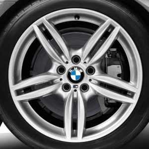 BMW Alufelge M Doppelspeiche 351 8,5J x 19 ET 33 Silber Vorderachse / Hinterachse BMW 6er F06 F12 F13 5er F10 F11