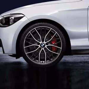 BMW Kompletträder M Performance Doppelspeiche 405 bicolor (orbitgrey / glanzgedreht) 19 Zoll 1er F20 F21 2er F22 F23 RDCi