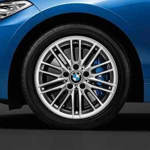 BMW Alufelge M Doppelspeiche 460 silber 7,5J x 17 ET 43 Vorderachse 1er F20 F21 2er F22 F23