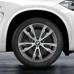 BMW Alufelge M Doppelspeiche 469 bicolor (ferricgrey/glanzgedreht) 10J x 20 ET 40 Vorderachse X5 F15 X6 F16