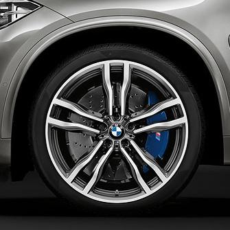 BMW Alufelge M Doppelspeiche 612 10 J x 21 ET 40 bicolor (ferricgrey glanzgedreht) 21 Zoll Vorderachse X5M F85 X6M F86