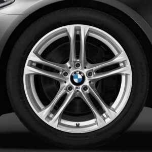 BMW Winterkompletträder M Doppelspeiche 613 silber 18 Zoll 5er F10 F11 6er F06 F12 F13