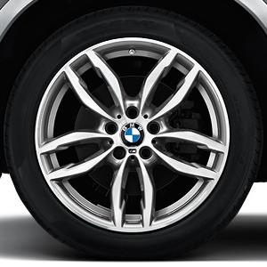 BMW Alufelge M Doppelspeiche 622 bicolor (ferricgrey / glanzgedreht) 9,5J x 19 ET 48 Hinterachse X3 F25 X4 F26