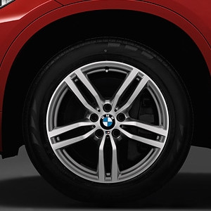 BMW Winterkompletträder M Doppelspeiche 623 bicolor (ferricgrey / glanzgedreht) 19 Zoll X6 F16 RDCi