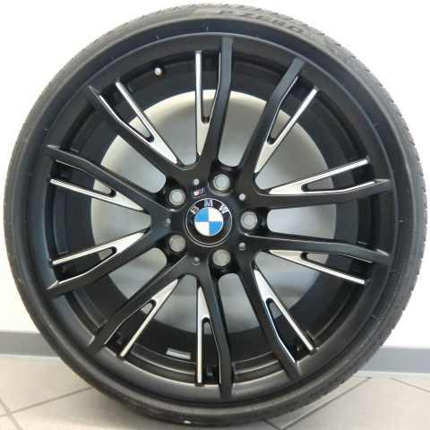 BMW Kompletträder M Performance Doppelspeiche 624 schwarz/silber 19 Zoll 1er F20 F21 2er F22 F23 RDCi