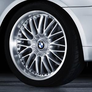 BMW Alufelge M Kreuzspeiche 101 9J x 20 ET 24 Silber Vorderachse BMW 7er E65 E66