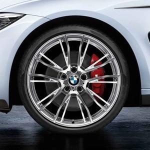 BMW Alufelge M Performance Doppelspeiche 624 voll poliert Vorderachse 8J x 20 ET 36 3er F30 F31 4er F32 F33 F36