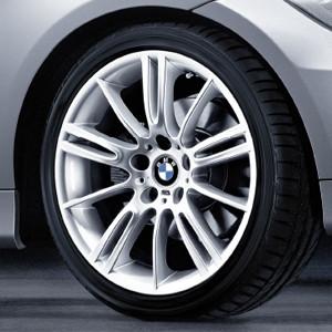 BMW Winterkompletträder Sternspeiche M 193 silber 18 Zoll 3er E90 E91 E92 E93 mit Mischbereifung
