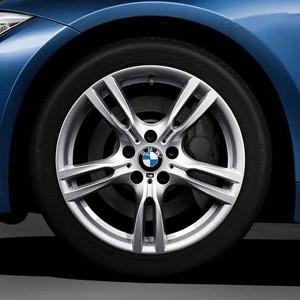 BMW Winterkompletträder M Sternspeiche 400 silber 18 Zoll 3er F34 GT RDCi
