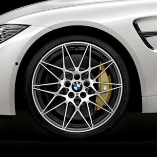 BMW Alufelge M Sternspeiche 666 silber 10J x 20 ET 40 Hinterachse M3 F80 M4 F82 F83