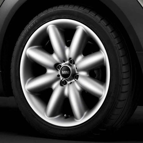 MINI Alufelge S Spoke 85 7J x 17 ET 48 Silber Vorderachse / Hinterachse MINI R50 MINI Cabrio R52 R57 MINI R53 R56 MINI Clubman R55 MINI Coupe R58 MINI Roadster R59
