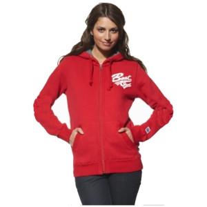 Ladies Hoodie Sweat Jacket, slim fit