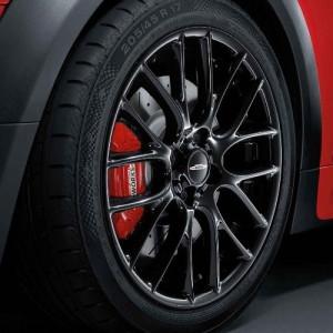 MINI Alufelge John Cooper Works Cross Spoke Challenge R112 7J x 17 ET 48 Schwarz Vorderachse / Hinterachse MINI R50 MINI Cabrio R52 R57 MINI R53 R56 MINI Clubman R55 MINI Coupe R58 MINI Roadster R59