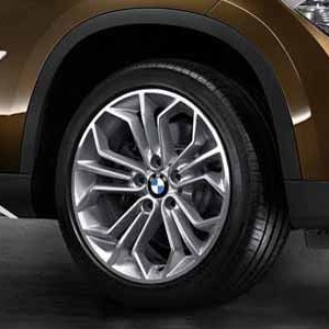 BMW Alufelge Wabenstyling 323 9J x 18 ET 41 Bicolor (Spacegrau / glanzgedreht)Hinterachse BMW X1 E84