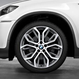 BMW Kompletträder Performance Y-Speiche 375 bicolor (ferricgrey glanzgedreht) 21 Zoll X5 F15 X6 F16 RDCi