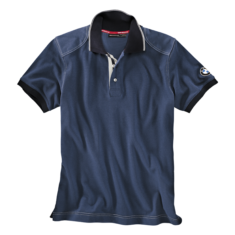 BMW Poloshirt Logo, Herren, blau