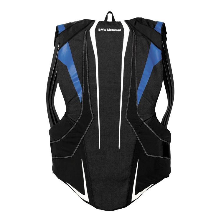 BMW Rückenprotektor, Unisex, schwarz/blau/weiß