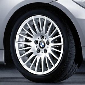 BMW Alufelge Radialspeiche 160 8J x 17 ET 34 Silber Vorderachse / Hinterachse BMW 3er E90 E91 E92 E93