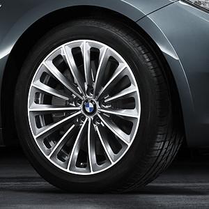 BMW Alufelge Radialspeiche 252 9,5J x 19 ET 39 Silber Hinterachse BMW 7er F01 F02 F04 5er F07