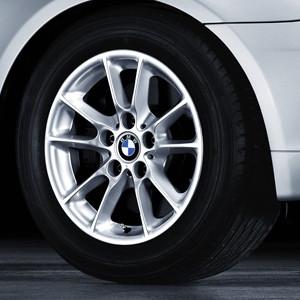 BMW Alufelge Radialspeiche 50 silber 7J x 16 ET 20 Vorderachse / Hinterachse 5er E60 E61
