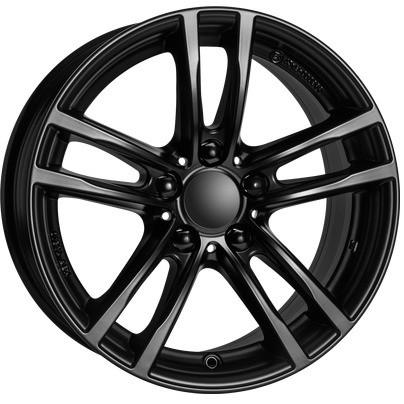 RIAL Kompletträder X10 schwarz matt 17 Zoll 4er F32 F33 5er E60 E61