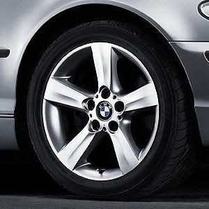 BMW Alufelge Sternspeiche 119 silber 8J x 17 ET 47 Vorderachse/Hinterachse BMW 3er E46
