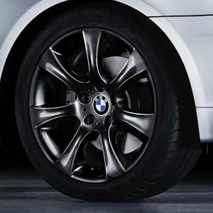 BMW Alufelge Sternspeiche 124 schwarz 8J x 18 ET 20 Vorderachse / Hinterachse 5er E60 E61