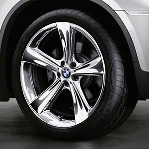 BMW Alufelge Sternspeiche 128 11,5J x 21 ET 38 Chrom Hinterachse BMW X6 E71 E72