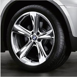 BMW Kompletträder Sternspeiche 128 chrom 21 Zoll X6 E71