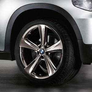 BMW Alufelge Sternspeiche 128 11,5J x 21 ET 42 Midnight Chrom Hinterachse BMW X5 E70