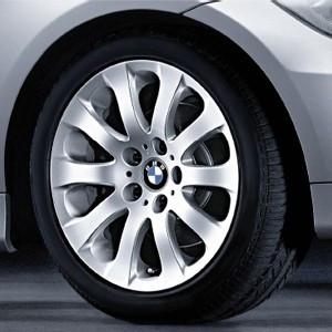 BMW Kompletträder Sternspeiche 159 17 Zoll Silber 3er E90 E91 E92 E93