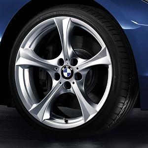 BMW Winterkompletträder Sternspeiche 276 silber 17 Zoll Z4 E89 RDC LC