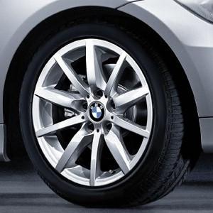 BMW Alufelge Sternspeiche 286 8,5J x 17 ET 39 Silber Hinterachse BMW 3er E90 E91 E92 E93