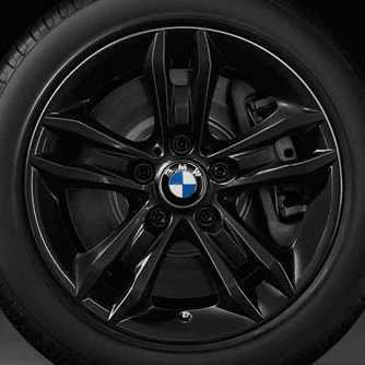 BMW Winterkompletträder Sternspeiche 319 schwarz 17 Zoll X1 E84
