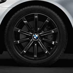 BMW Winterkompletträder Sternspeiche 365 schwarz 18 Zoll 5er F10 F11 6er F06 F12 F13 RDC LC