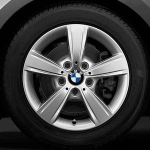 BMW Kompletträder Sternspeiche 376 silber 16 Zoll 1er F20 F21 2er F22 F23