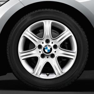 BMW Winterkompletträder Sternspeiche 377 silber 16 Zoll 1er F20 F21 2er F22 F23