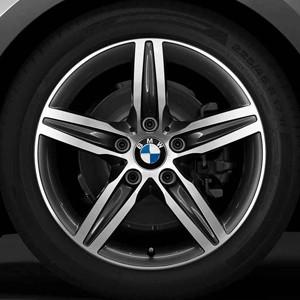 BMW Alufelge Sternspeiche 379 bicolor (orbitgrau / glanzgedreht) 7,5J x 17 ET 54 Vorderachse / Hinterachse BMW 2er F45 F46