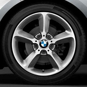 BMW Kompletträder Sternspeiche 382 bicolor (spacegrau / glanzgedreht) 17 Zoll 1er F20 F21 2er F22 F23 RDCi
