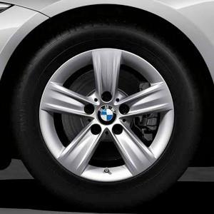BMW Winterkompletträder Sternspeiche 391 silber 16 Zoll 3er F30 F31 4er F32 F33 F36 RDCi