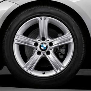BMW Winterkompletträder Sternspeiche 393 silber 17 Zoll 3er F30 F31 4er F32 F33 F36