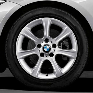 BMW Alufelge Sternspeiche 394 7,5J x 17 ET 37 Silber Vorderachse / Hinterachse für 3er F30 F31 4er F32 F33 F36