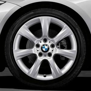 BMW Winterkompletträder Sternspeiche 396 silber 18 Zoll 3er F30 F31 4er F32 F33 F36 RDCi