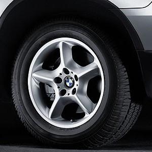 BMW Alufelge Sternspeiche 57 7,5J x 17 ET 40 Silber Vorderachse / Hinterachse BMW X5 E53