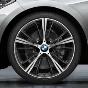 BMW Kompletträder Sternspeiche 660 bicolor (orbitgrey / glanzgedreht) 20 Zoll 3er F30 F31 4er F32 F33 F36
