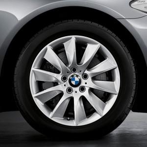 BMW Alufelge Turbinenstyling 329 8J x 18 ET 30 Silber Vorderachse / Hinterachse BMW 5er F10 F11 6er F06 F12 F13