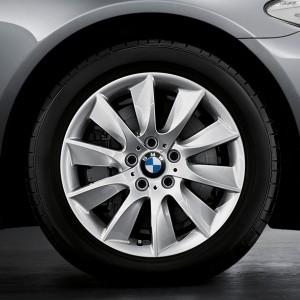 BMW Winterkompletträder Turbinenstyling 329 silber 18 Zoll 5er F10 F11 6er F06 F12 F13 RDC LC