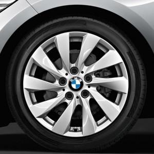 BMW Winterkompletträder Turbinenstyling 381 silber 17 Zoll 1er F20 F21 2er F22 F23 RDCi