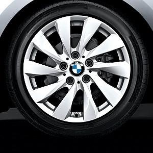 BMW Alufelge Turbinenstyling 381 7,5J x 17 ET 43 silber Vorderachse / Hinterachse BMW 1er F20 F21 2er F22 F23